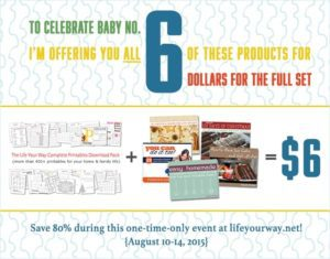 We're celebrating Baby Lucas with a 6 for $6 special offer!