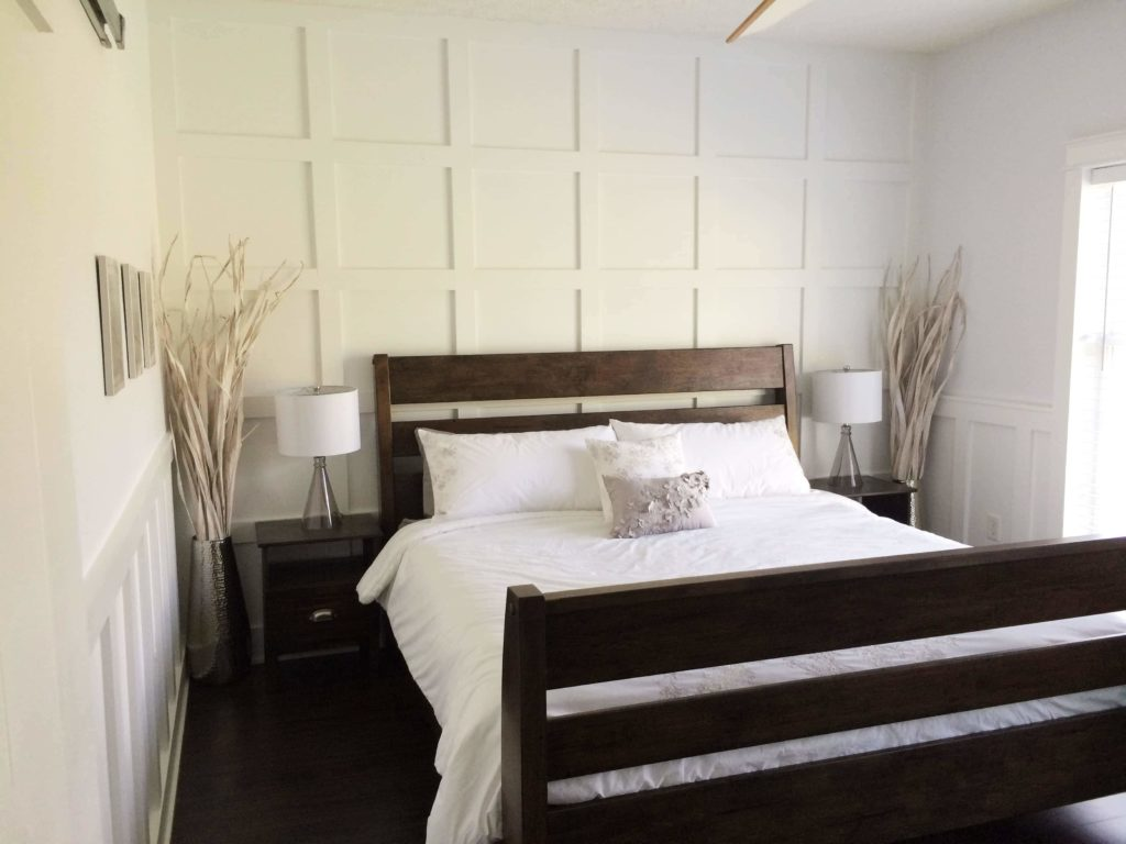 Wainscoting master bedroom - Updated Master Bedroom Tour