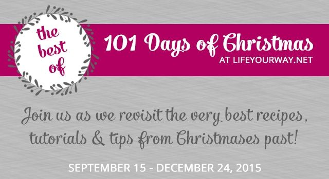 Hanging pinecones, French madeleines + more {101 Days of Christmas}