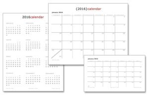 The 2016 printable calendars are finally here!