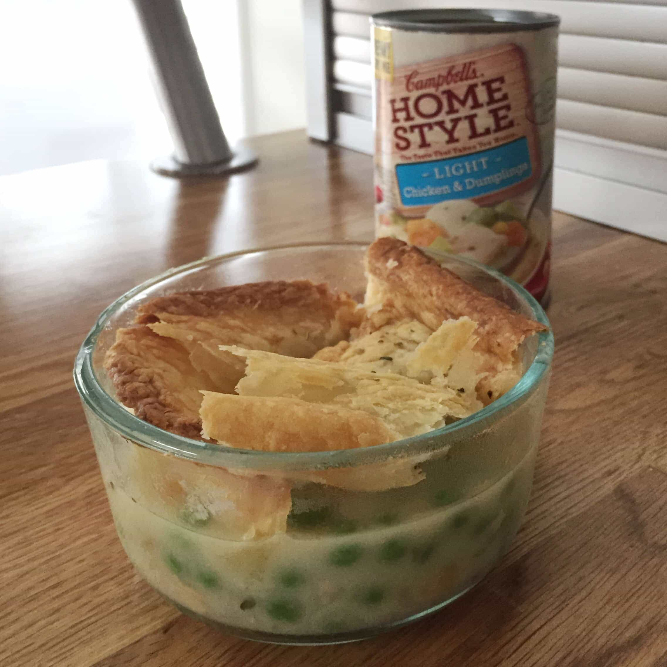 Quick chicken pot pie with Campbell's Homestyle Light