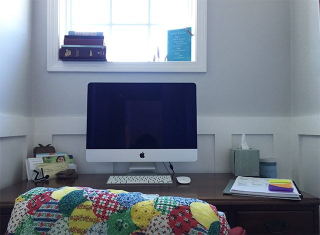Anatomy of a tiny {closet-sized} office