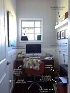 Anatomy of a tiny {closet-sized} home office