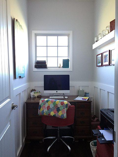 Anatomy of a tiny {closet-sized} office