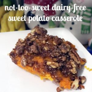 A tasty, not-too-sweet, dairy-free sweet potato casserole