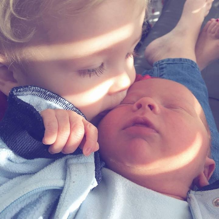 Double the snuggles {how we're juggling a newborn and a toddler}