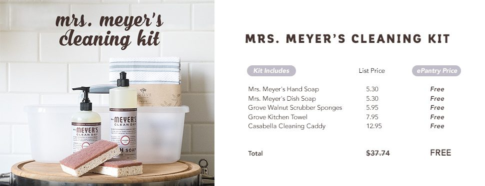 Mrs. Meyer's FREE Cleaning Kit from ePantry