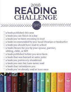 My 2016 reading goals {and this year's Modern Mrs. Darcy Reading Challenge}