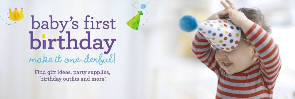 "Celebrate your baby's 1st birthday with Babies ""R"" Us"