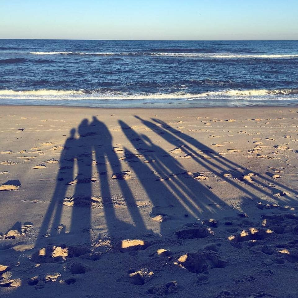 Family photo at the beach