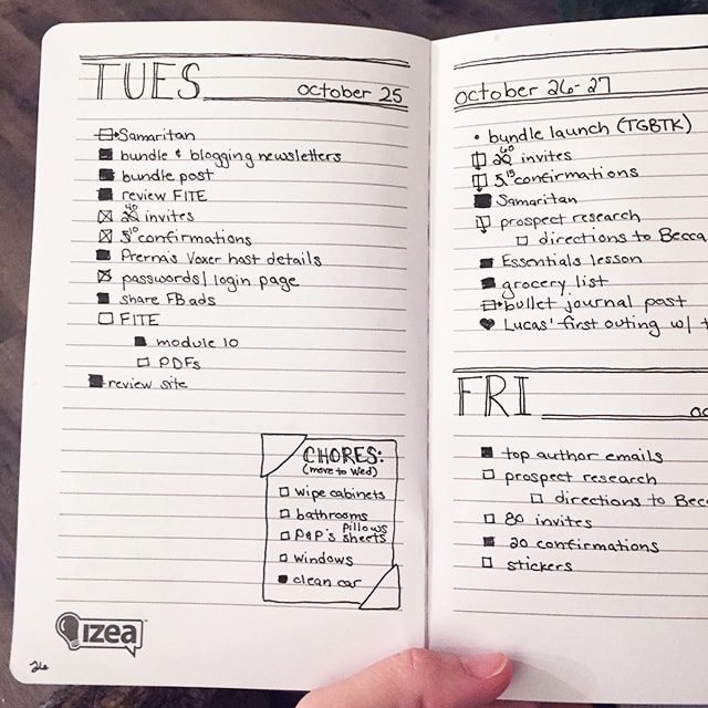 Embracing creativity AND imperfection in your bullet journal