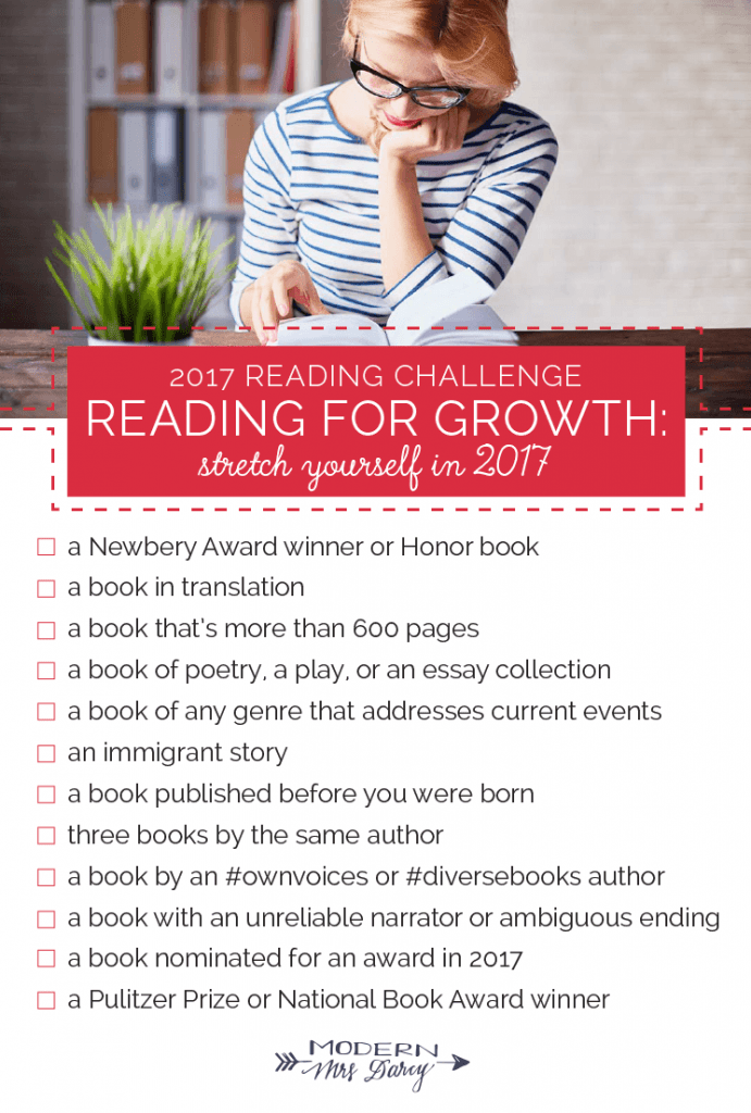 The Modern Mrs. Darcy 2017 Reading Challenge + my picks