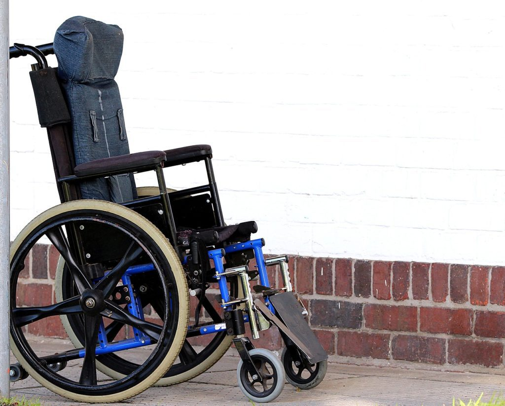 High-back wheelchair