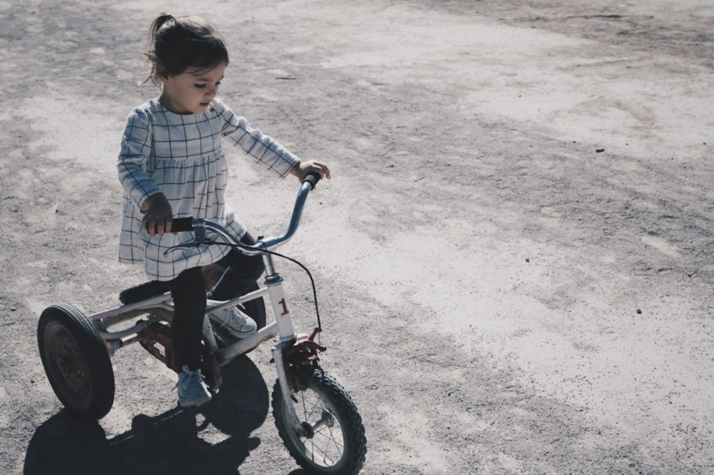 Tricycles help with learning and development