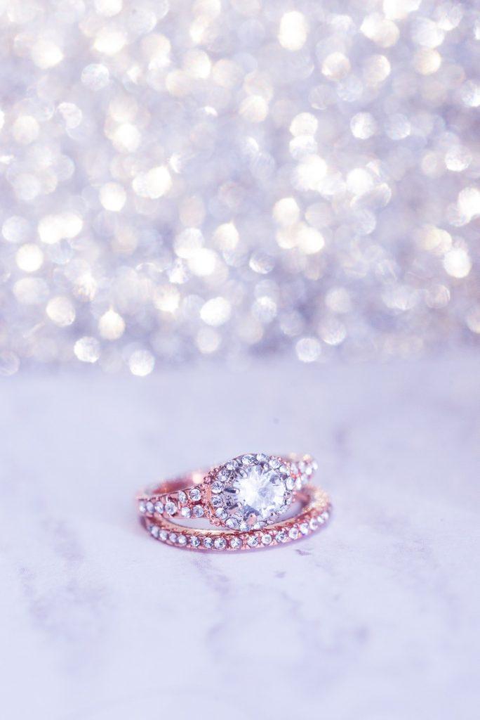 Diamonds in ring