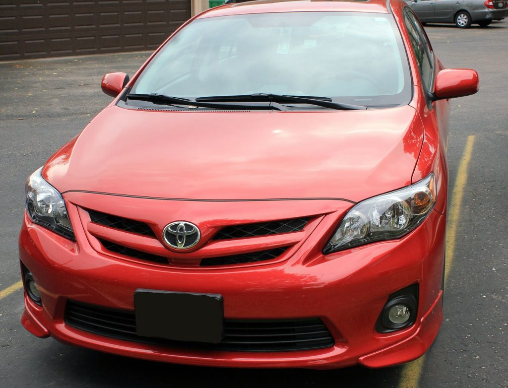 Red Toyota car