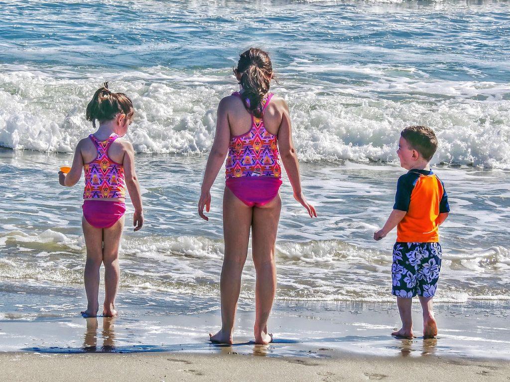Kids getting ocean air