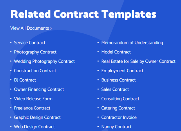 Related Contract Templates