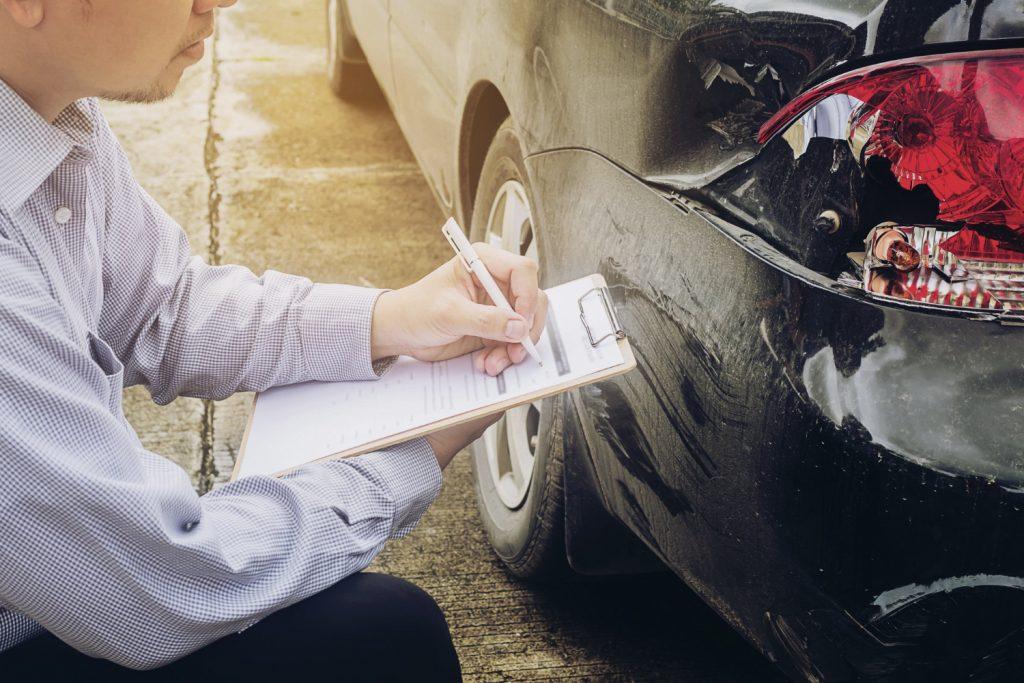 Auto accident inspection