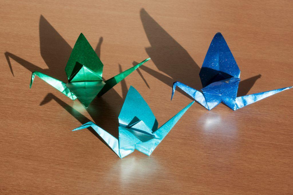 Three origami