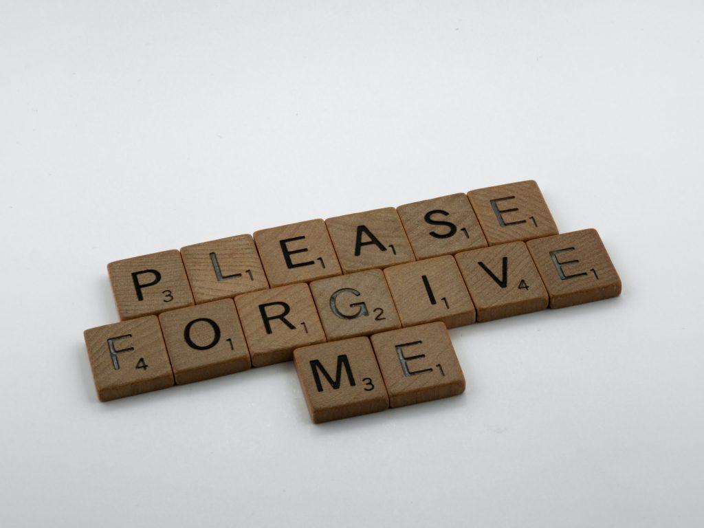 Forgiveness message