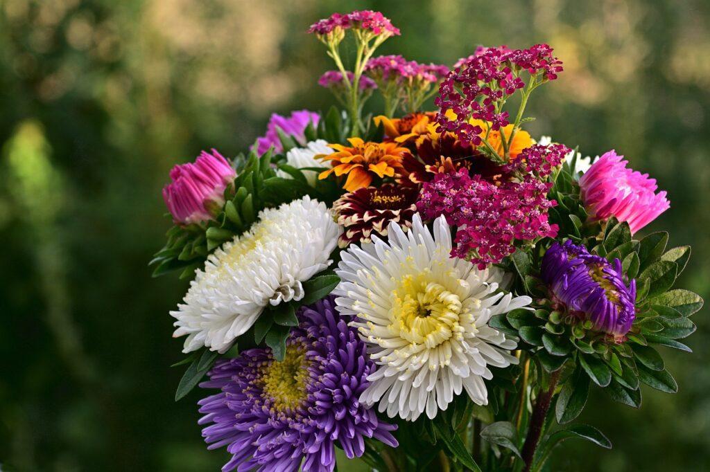 Flower bouquet outside