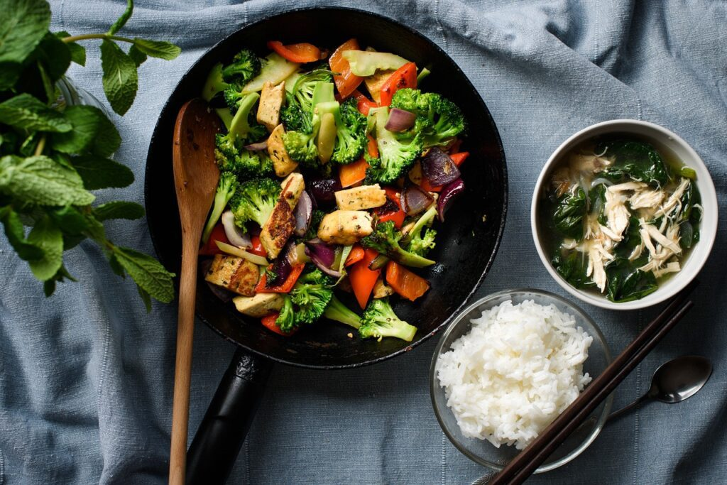 Tofu and vegies