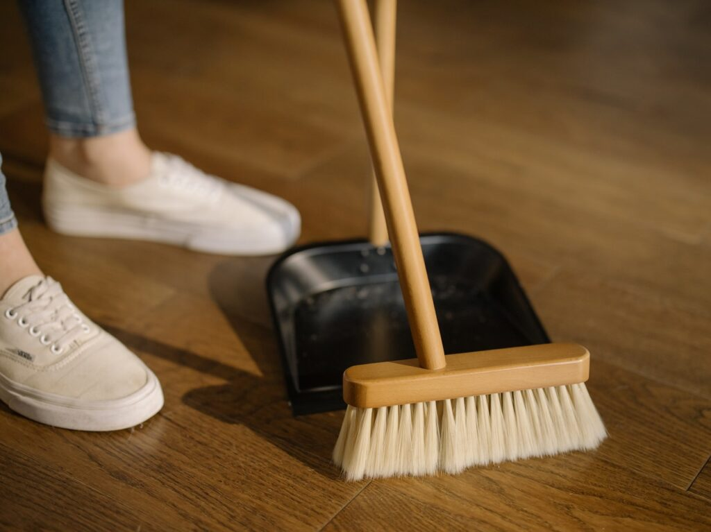 Sweeping floor