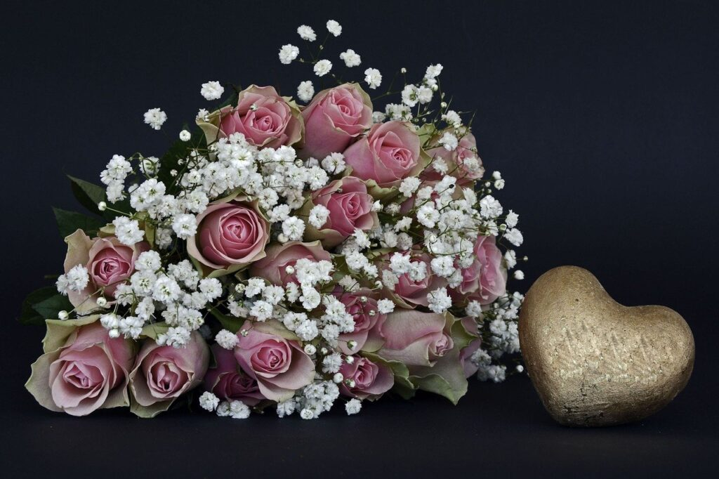 Flowers say I Love you