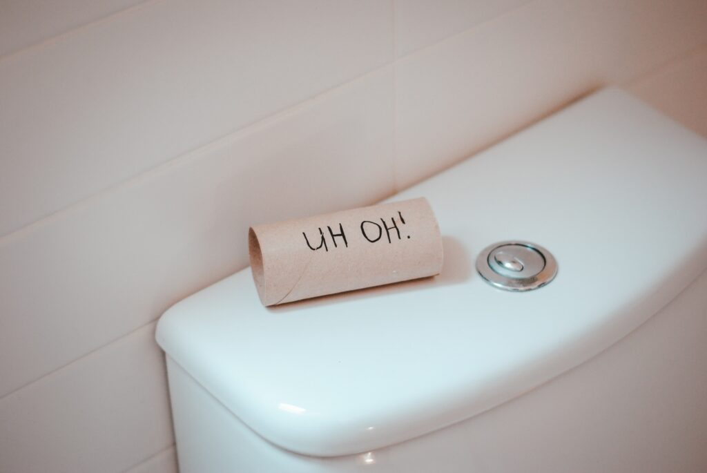 Don't flush cardboard toilet roll