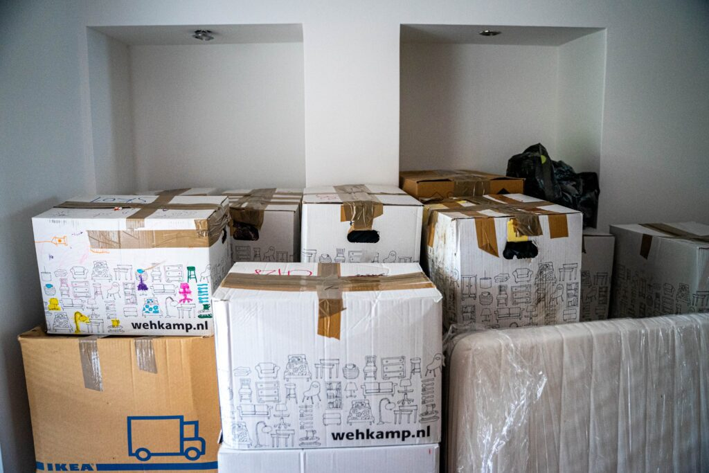Boxes packed