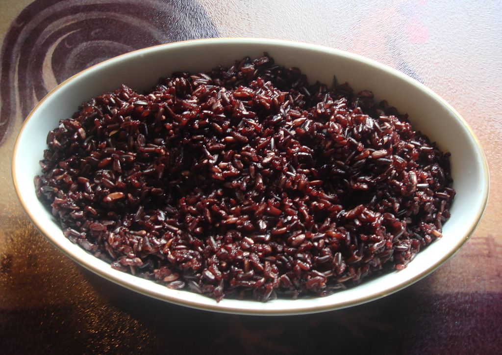 Cooked black rice