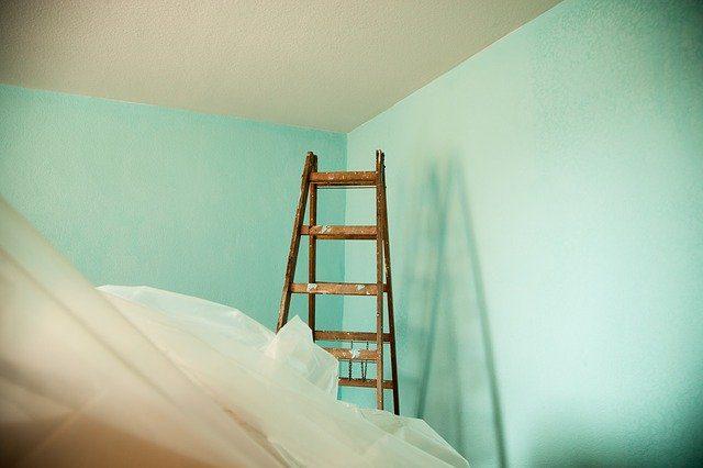 Painting walls light green