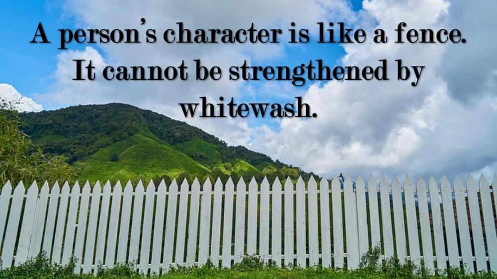 A person's character