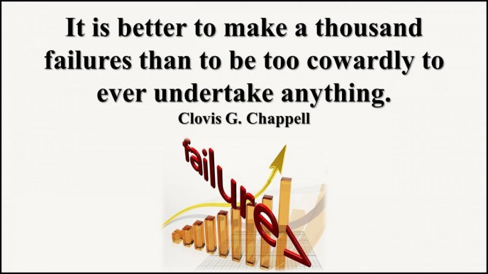 Better to make a thousand failures