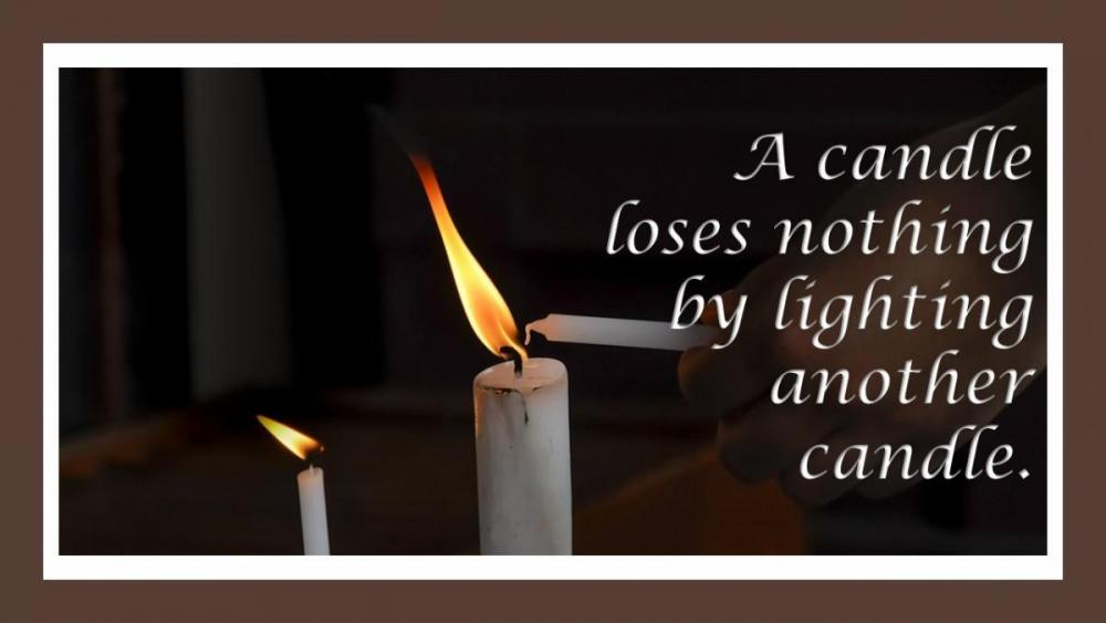 Candle loses nothing