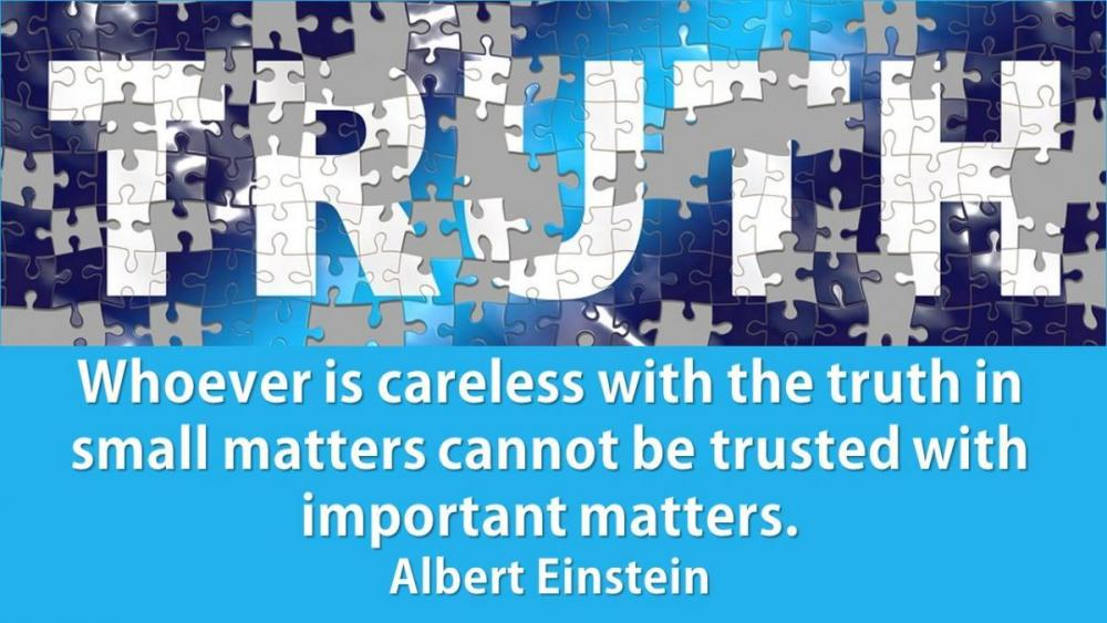 Careless with Truth