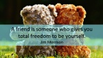 A friend is someone who gives you total freedom to be yourself.jpg